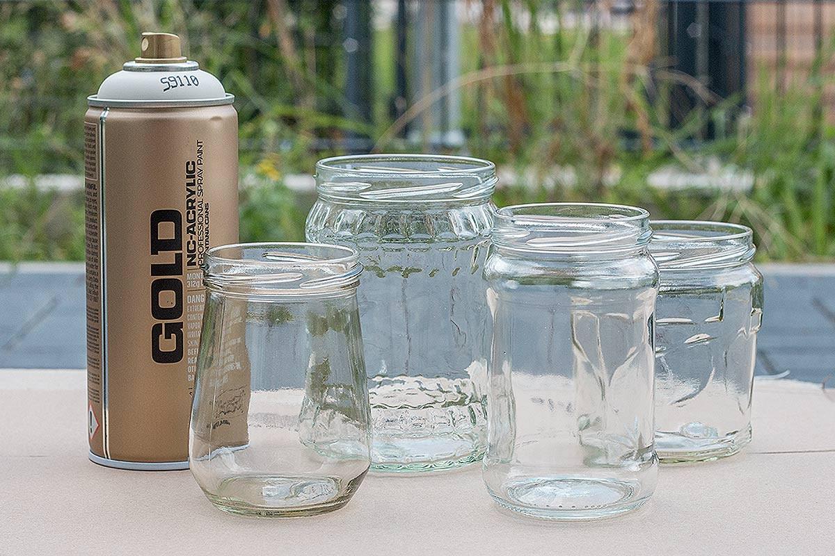Diy Teelichthalter  DIY Teelichthalter aus Marmeladengläsern