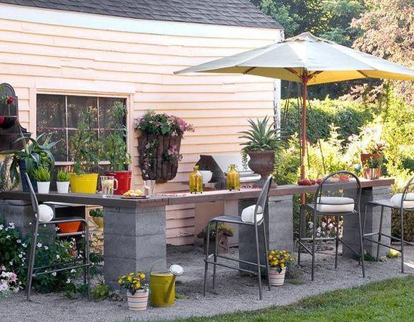 Diy Theke  Garten Bar selber bauen fresHouse
