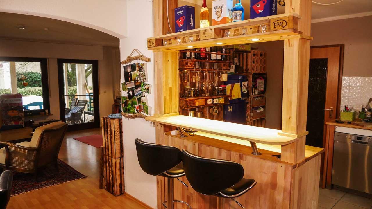 Diy Theke  Theke Bar selber bauen Made by myself Dein DIY