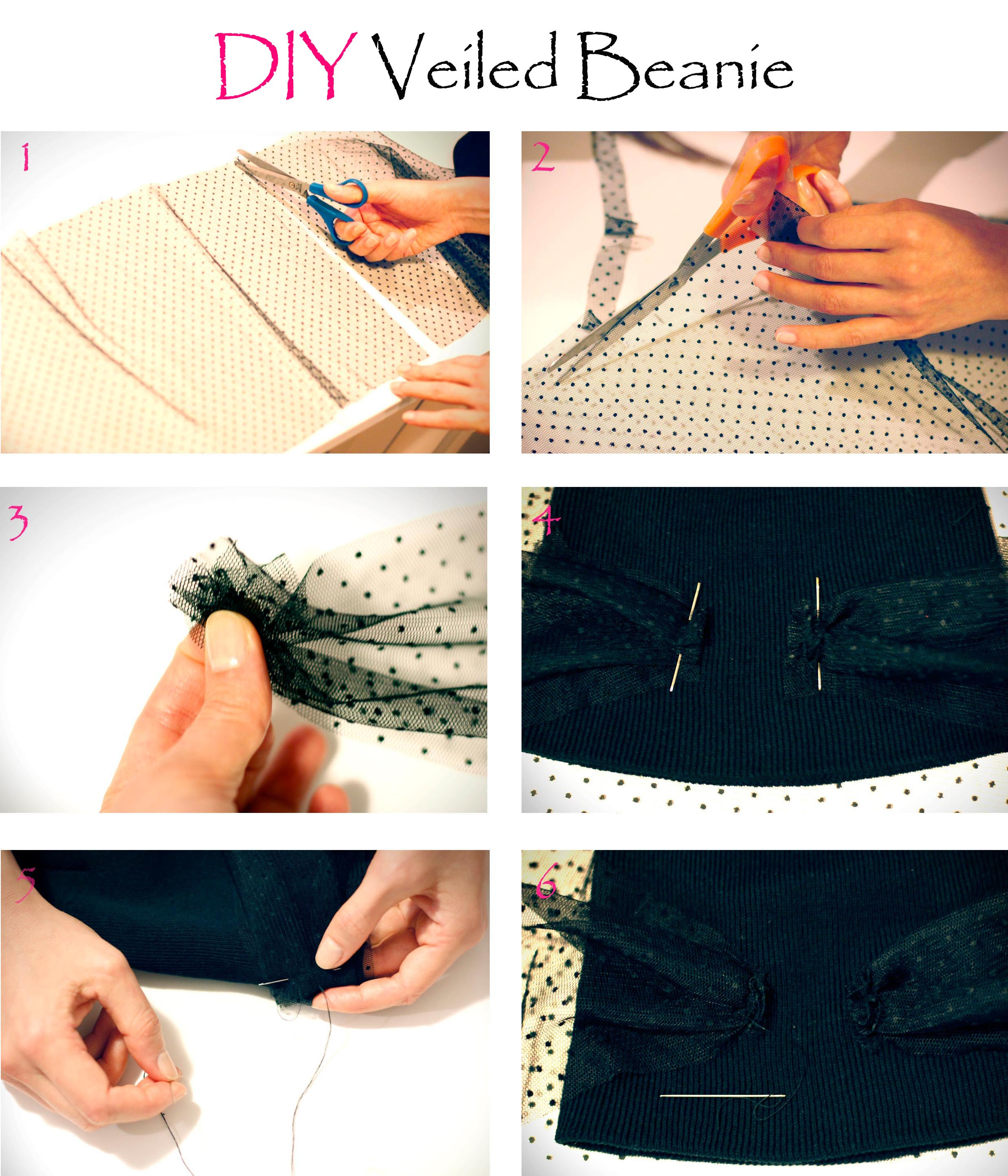 Diy Trend  CrashingRED DIY Jil Sander inspired veiled beanie