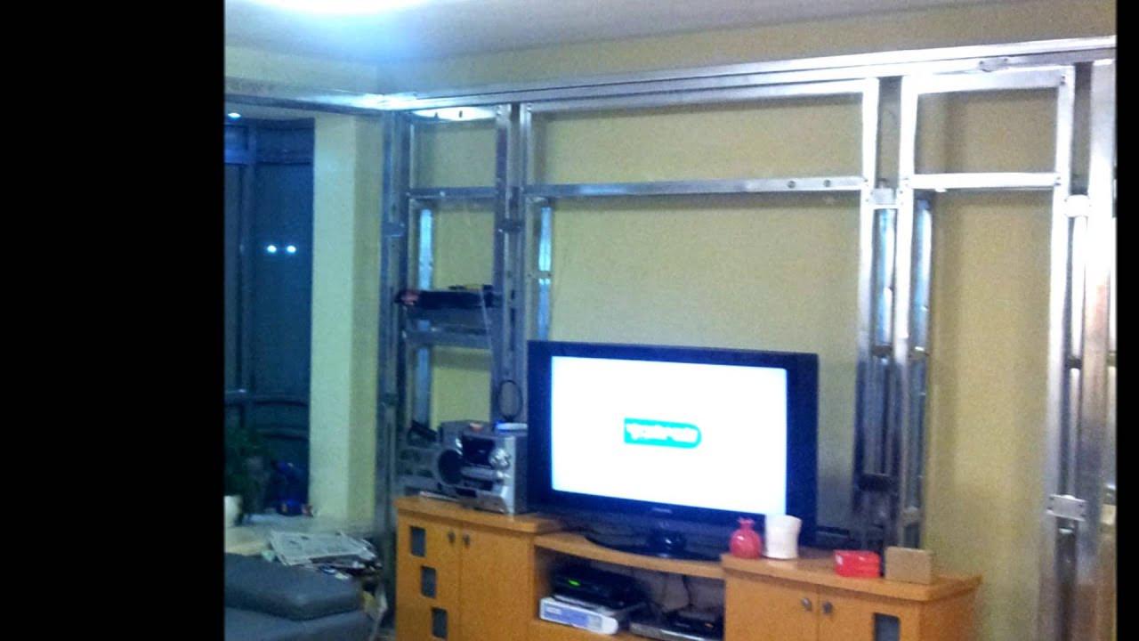 Diy Tv Board  Led Lcd T V Gypsum on wall mounting DIY
