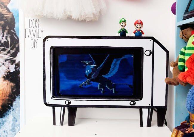 Diy Tv Board  DIY Foamboard TV frame
