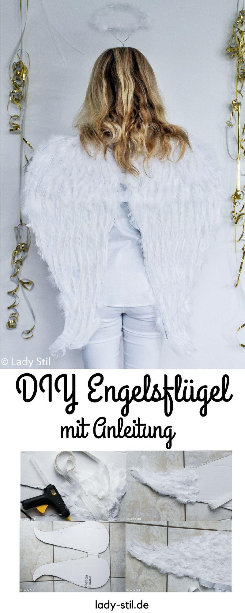 Diy Übersetzung  DIY Karnevals Kostüm Engel Engelsflügel und Halt Pohl