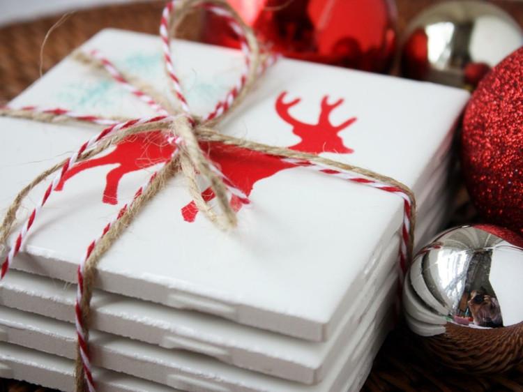Diy Untersetzer  DIY Tischdeko zu Weihnachten Tischmatten & Untersetzer
