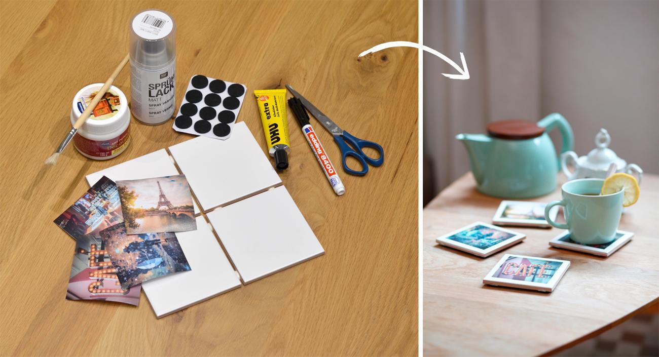 Diy Untersetzer  DIY So gestalten Sie individuelle Foto Untersetzer