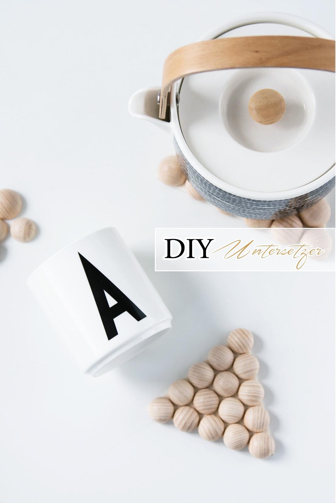 Diy Untersetzer  [DIY Quickie] Geometrische Untersetzer aus Holzkugeln