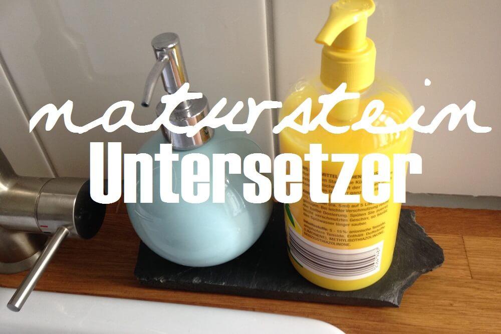 Diy Untersetzer  DIY Untersetzer aus Naturstein
