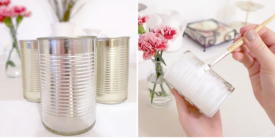 Diy Vintage Deko  DIY  Vintage Shabby Chic Blumenvasen zum selber machen