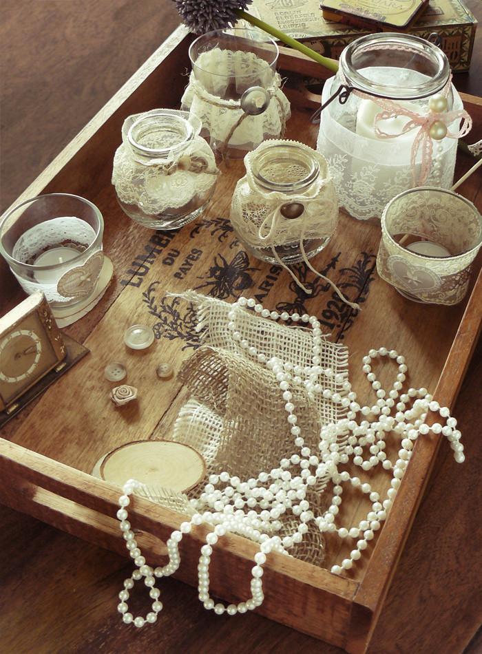 Diy Vintage Deko  DIY Vintage Teelichter Paillettenshop Blog