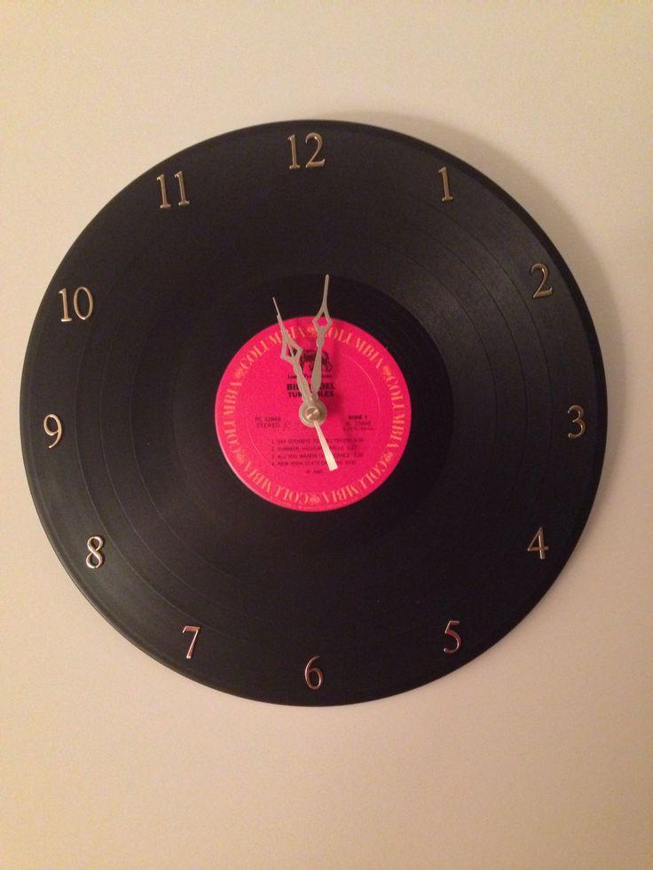 Diy Vinyl  Wall clock from a vinyl record DIY t for Brinley