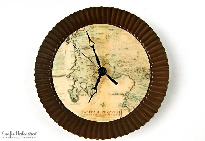 Diy Wanduhr  DIY Antike Karte Wanduhr Image 9 of 21