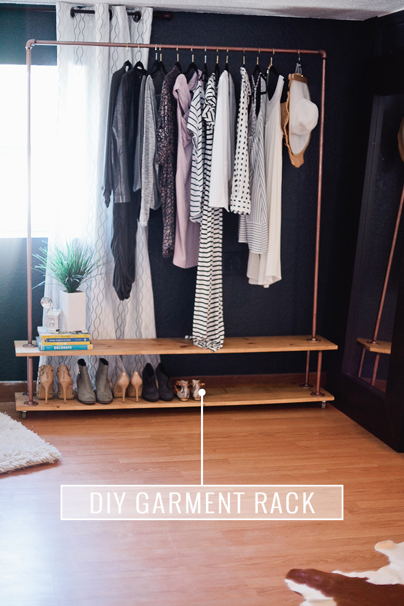 Diy Wardrobe  Rolling DIY Garment Rack for Your Wardrobe Fresh Mommy