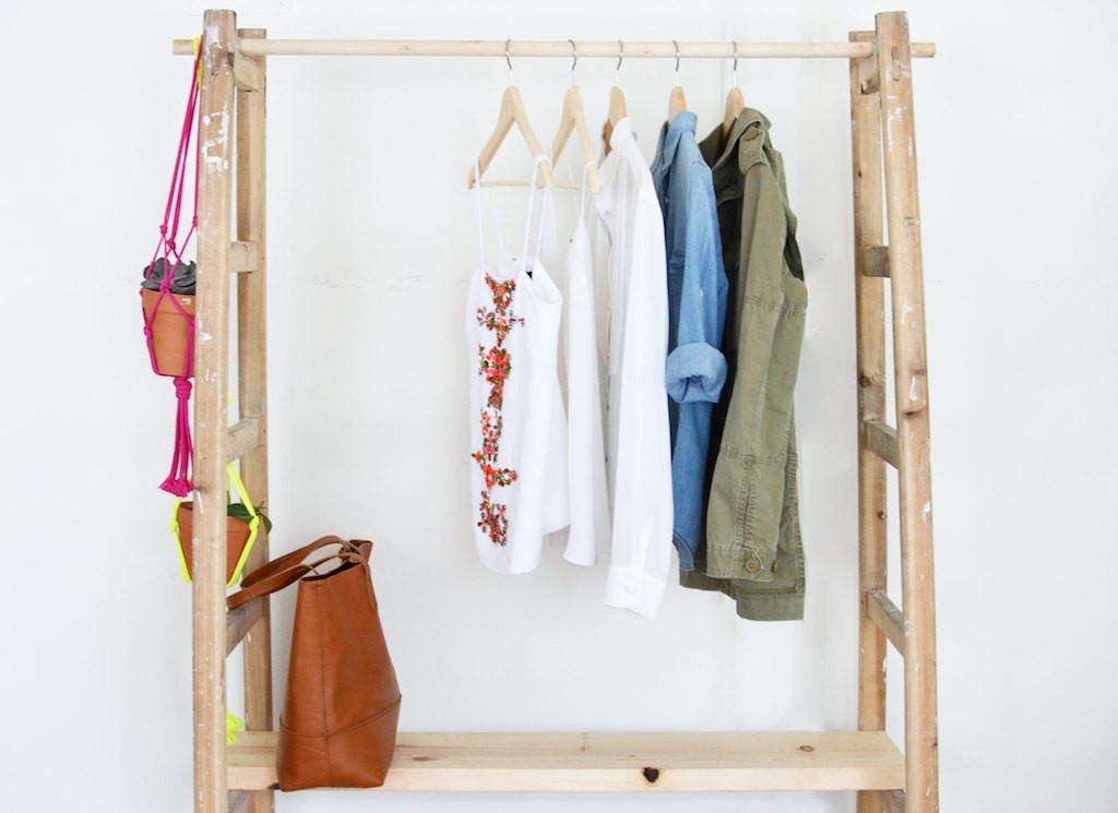 Diy Wardrobe  DIY Ladder Wardrobe