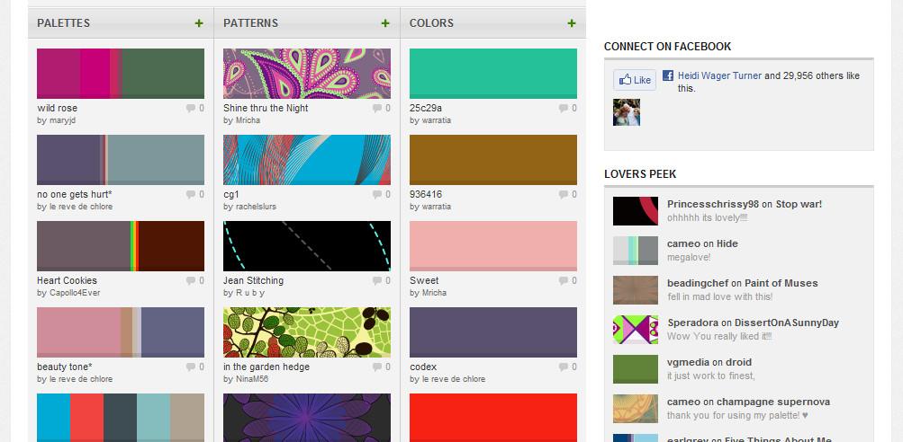 Diy Websites  Colourlovers for DIY Website Designers
