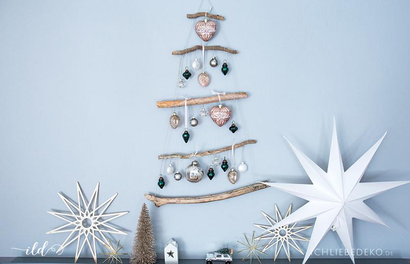 Diy Weihnachtsbaum  DIY Weihnachtsbaum aus Ästen • Ich Liebe Deko