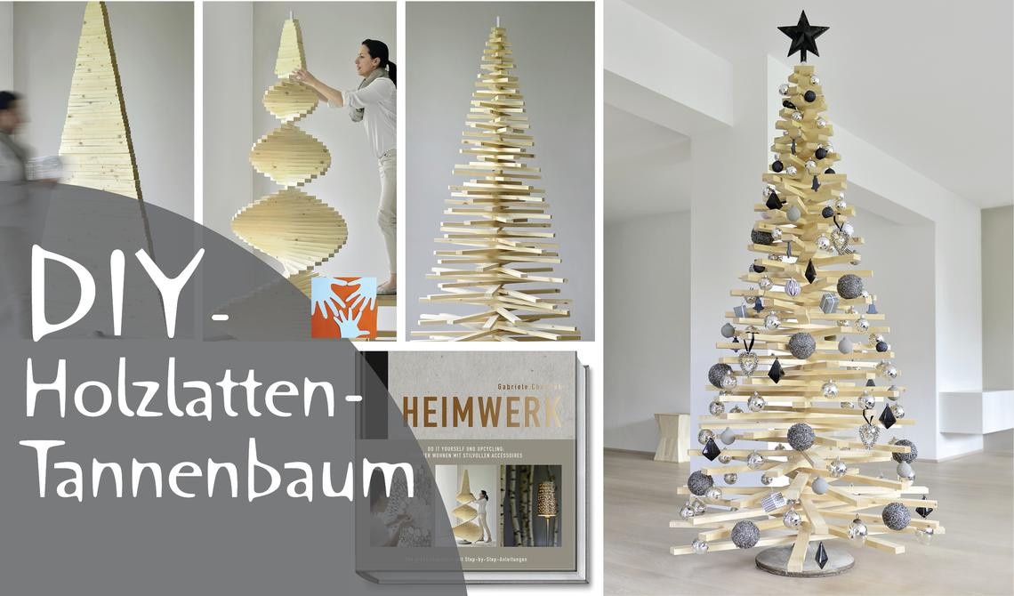 Diy Weihnachtsbaum  DIY Weihnachtsbaum aus Holzlatten