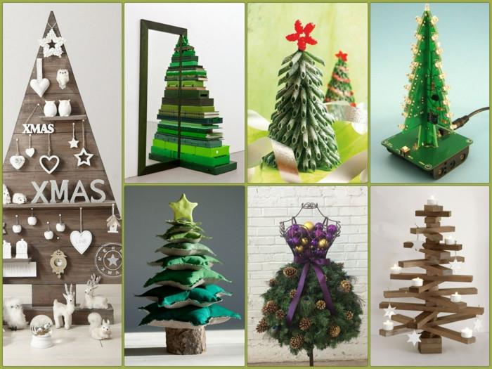 Diy Weihnachtsbaum  Tannenbaum basteln 30 kreative DIY Ideen für