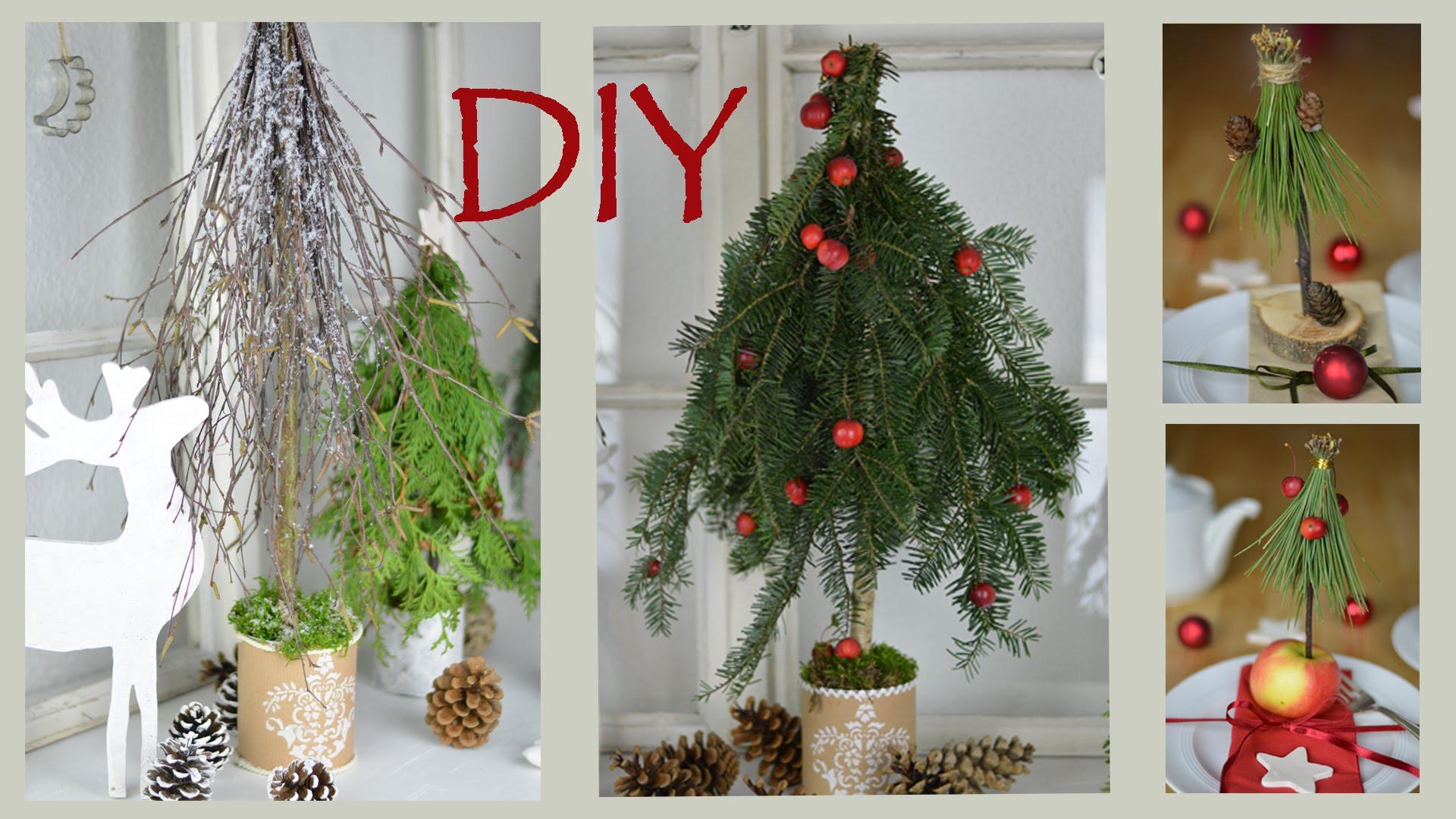 Diy Weihnachtsdeko Fenster  DIY Weihnachtsdeko Selber Machen Bäume Aus Zweigen Und