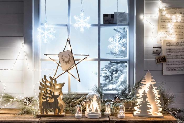 Diy Weihnachtsdeko Fenster  1001 Ideen zum Thema Fensterbank weihnachtlich dekorieren