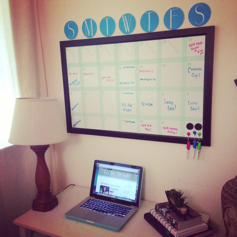 Diy Whiteboard  DIY Whiteboard Calendar