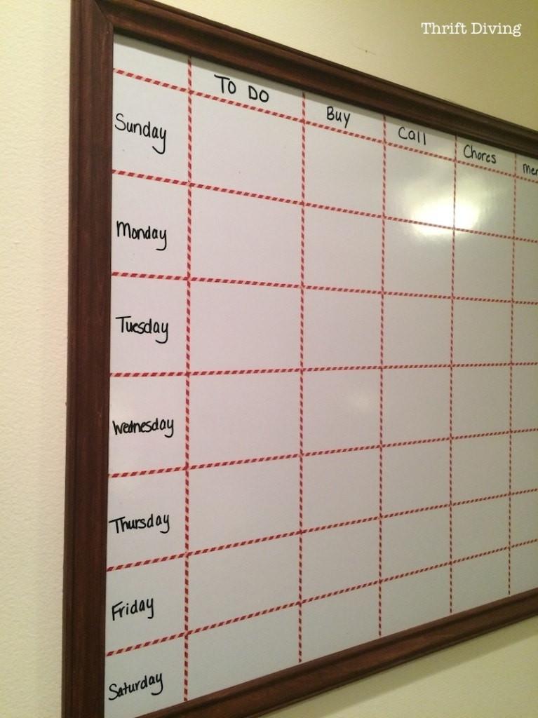 Diy Whiteboard  How to Make a Big DIY Whiteboard to Get Organized