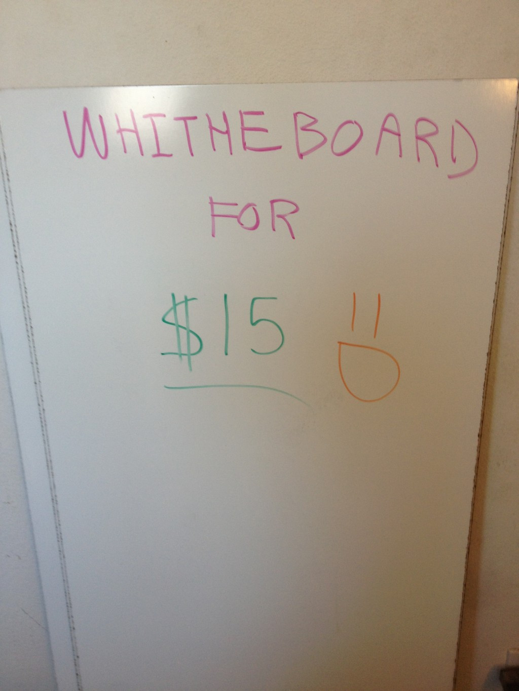 Diy Whiteboard  How to Make a Ghetto White Board for Cheap Less than $15