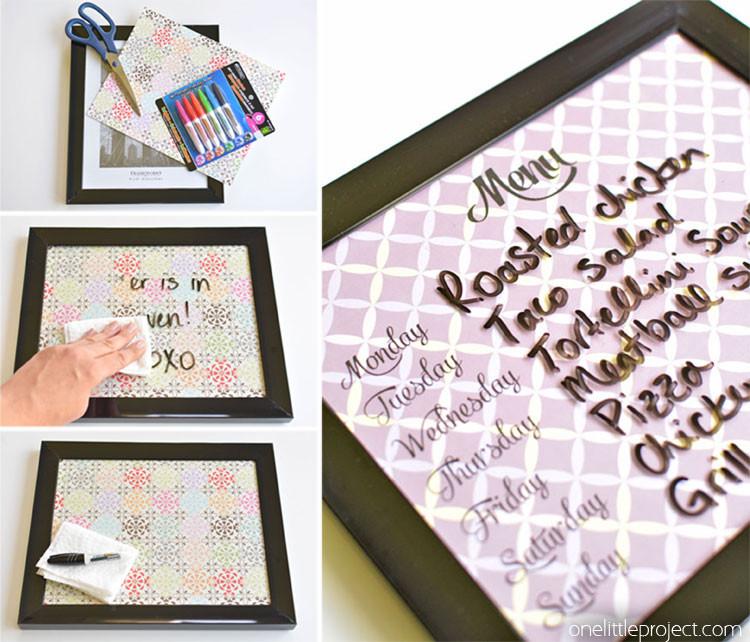 Diy Whiteboard  5 Minute Dry Erase Board