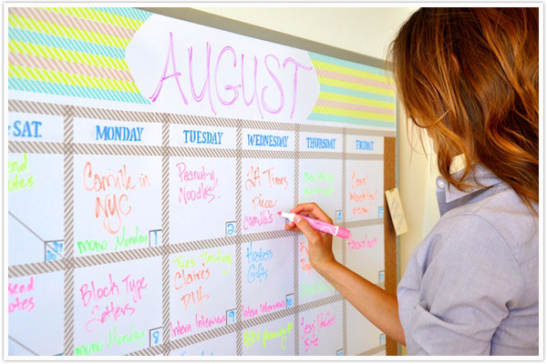 Diy Whiteboard  Transformed A Dry Erase Board Camille Styles