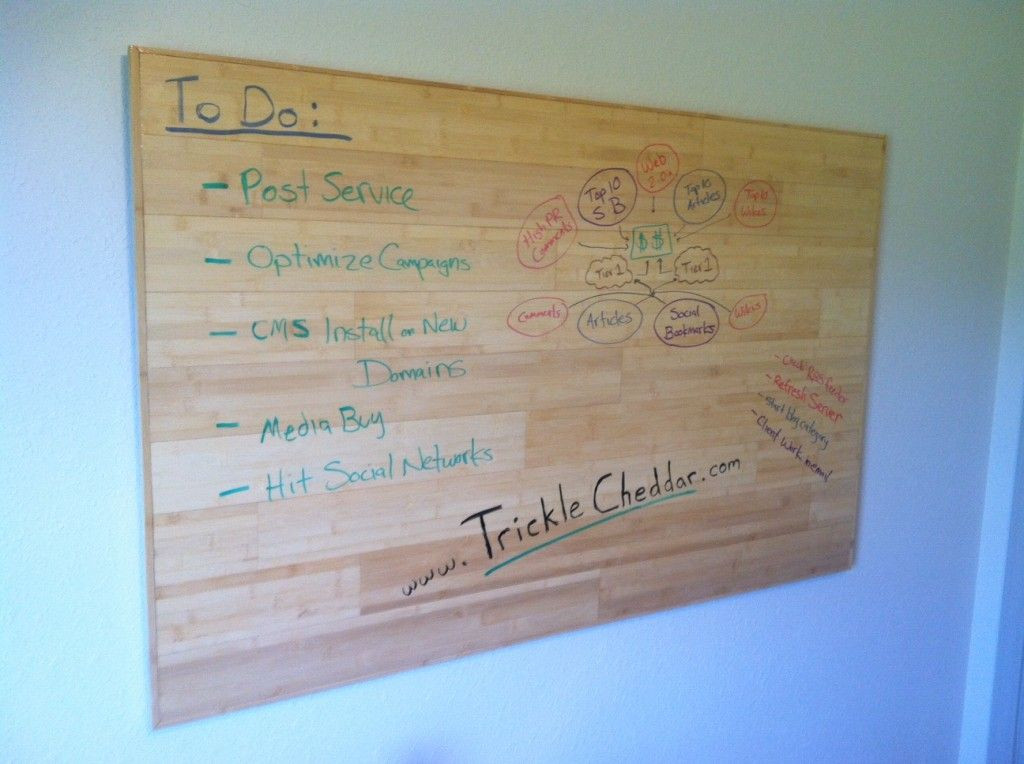"""Diy Whiteboard  DIY wood """"whiteboard"""" with clear dry erase paint"""