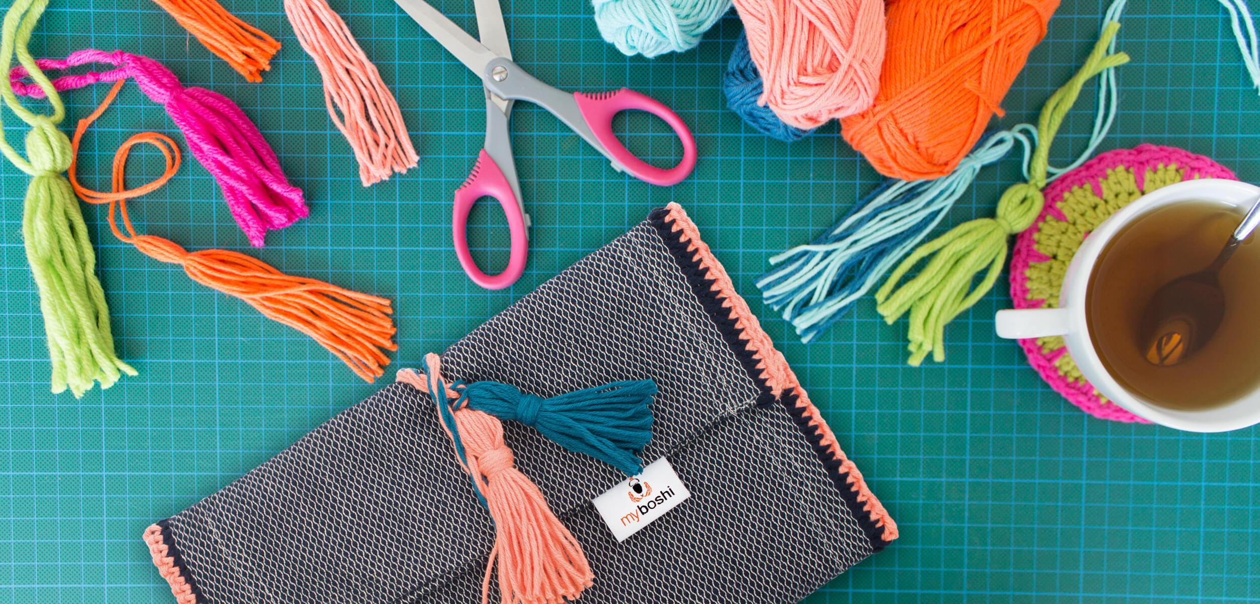 Diy Wolle  DIY Tipp Quasten selber machen myboshi Blog häkeln