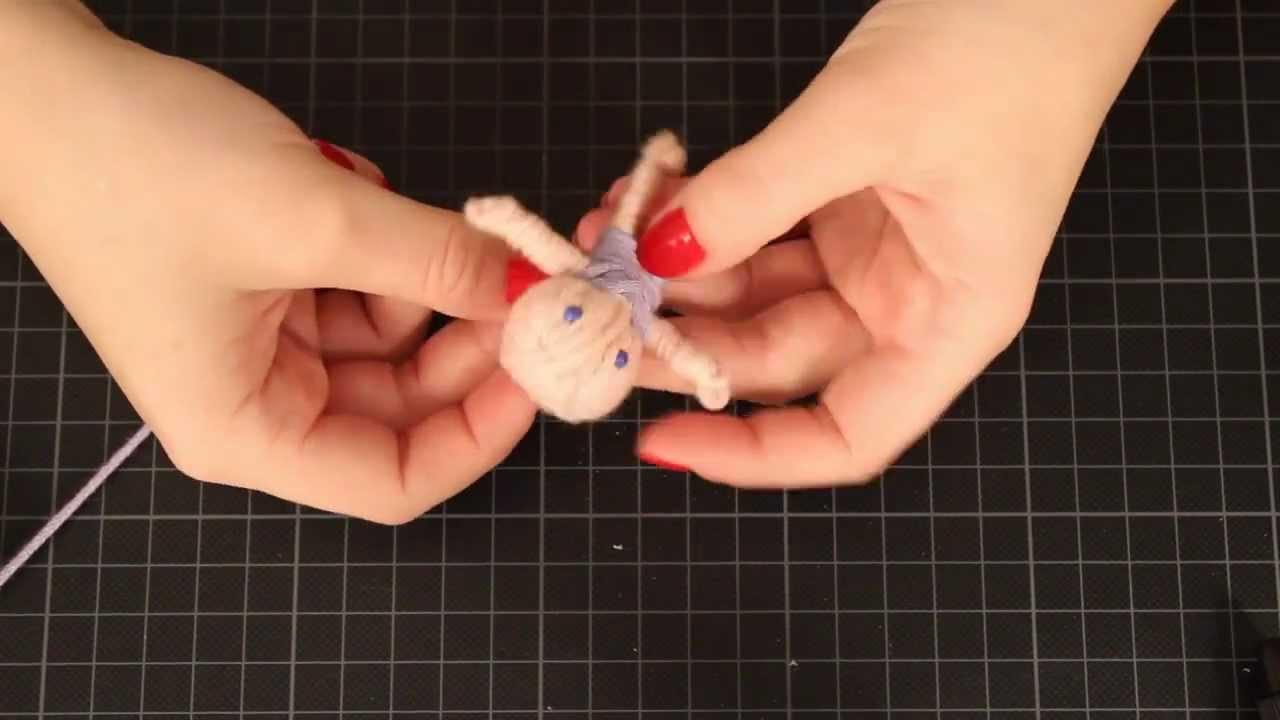 Diy Wolle  DIY Glückspüppchen aus Wolle Geschenkidee Wollreste