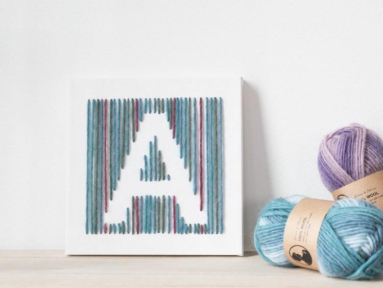 Diy Wolle  DIY – Kunstwerk aus Wolle