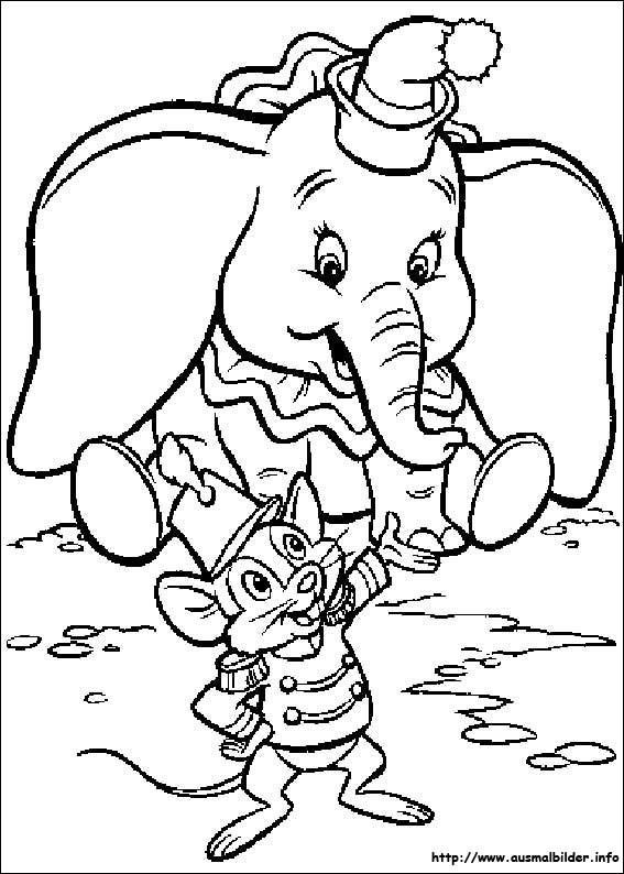 Dumbo Ausmalbilder  Dumbo malvorlagen