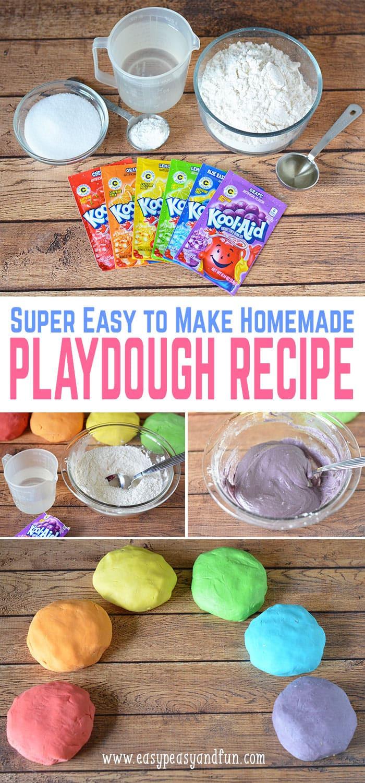 Easy Diy  Easy Homemade Playdough Recipe Easy Peasy and Fun