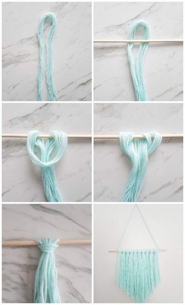 Easy Diy  How to Make an Easy DIY Wall Hanging with Yarn A Quick