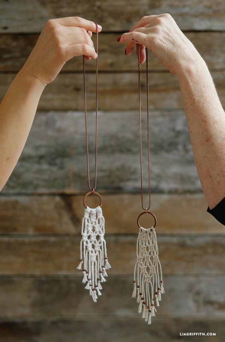 Easy Diy  Simple DIY Macrame Necklace Lia Griffith