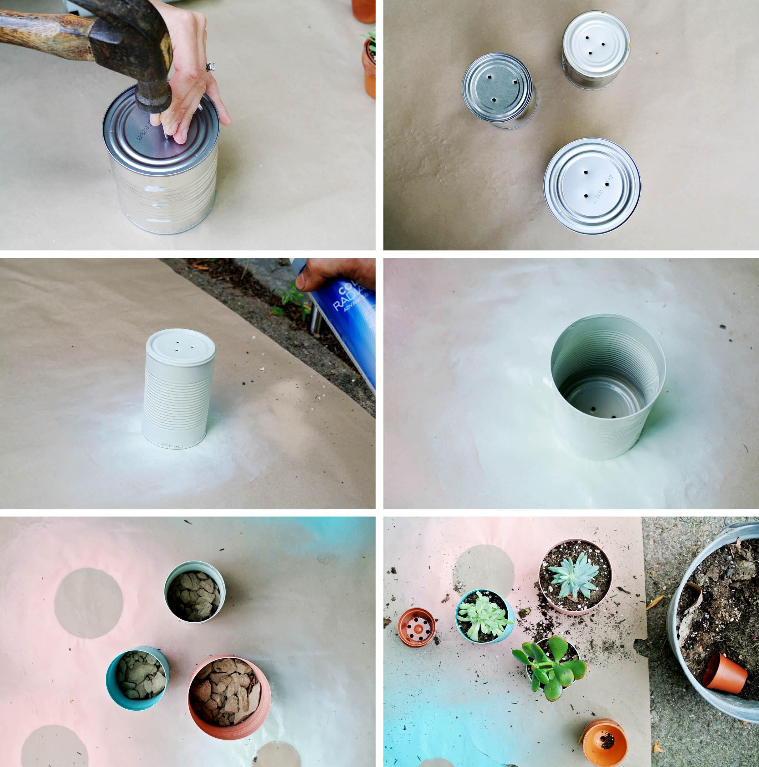 Easy Diy  Easy DIY Tin Can Planters