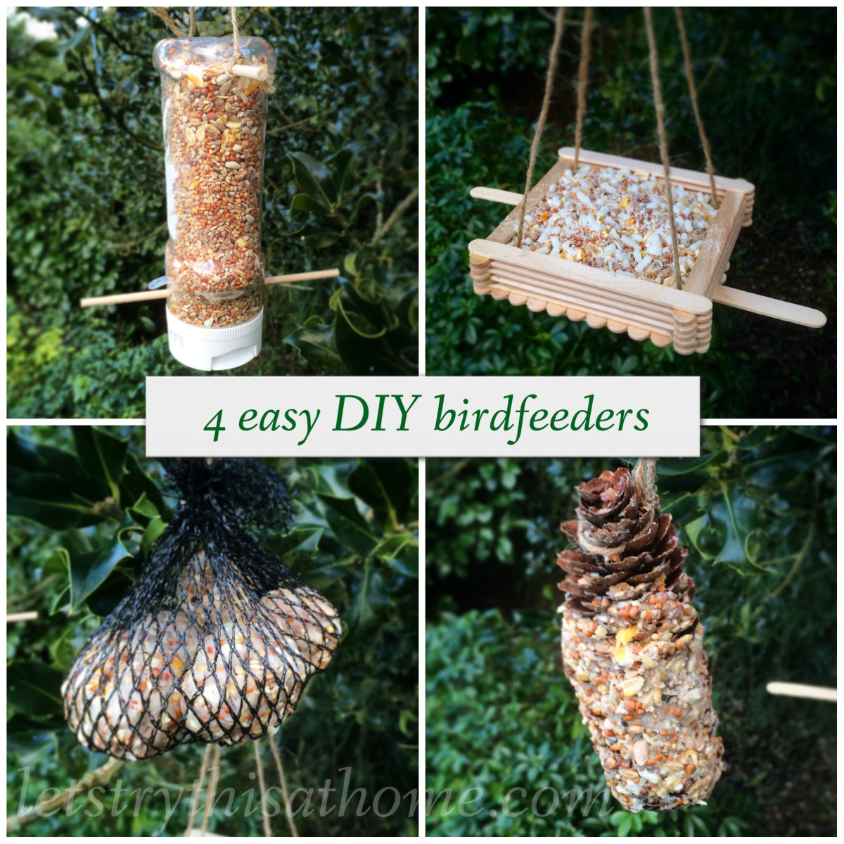 Easy Diy  Four easy DIY bird feeders