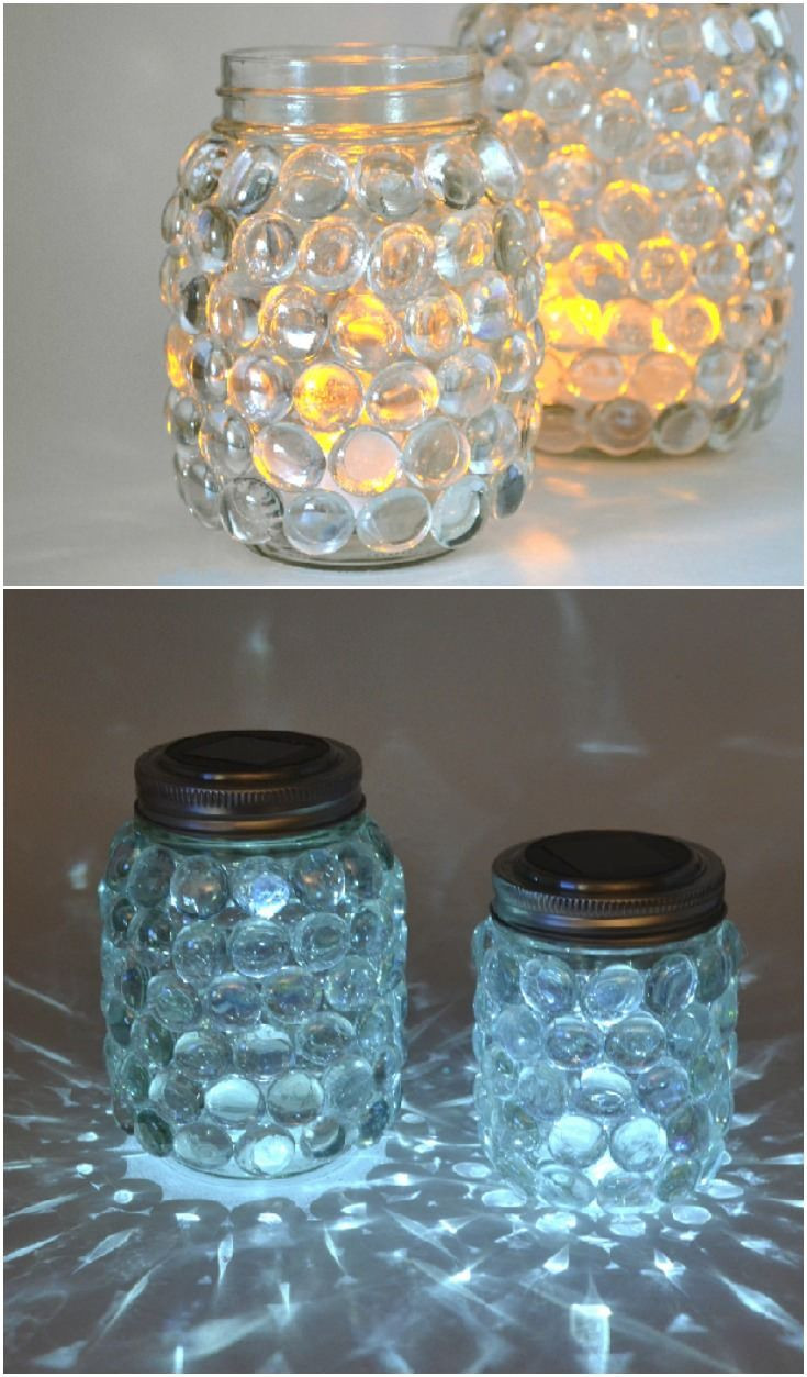 Easy Diy  166 best Things to do with glass jars bottles etc