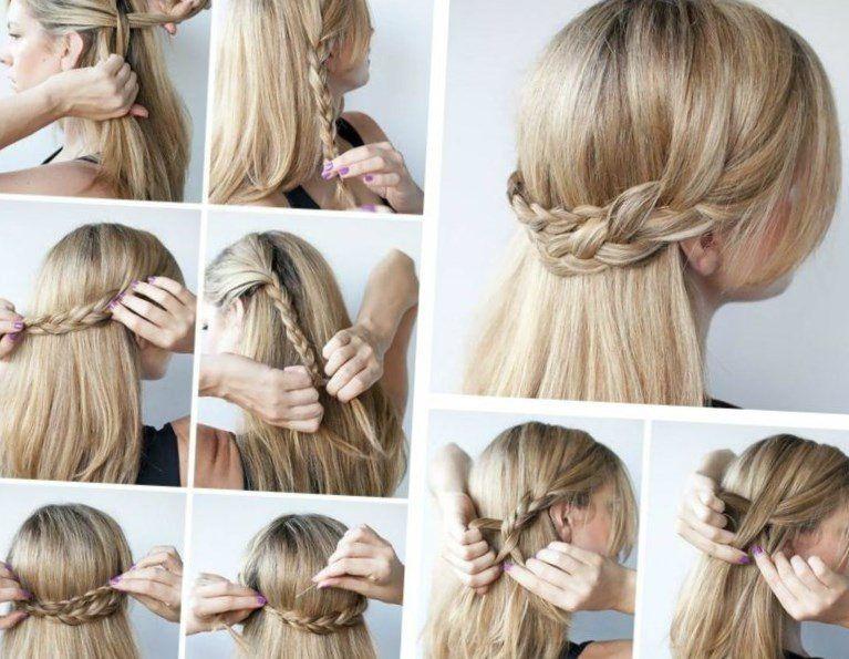 Easy Frisuren  Schnelle und einfache Frisuren Halboffene Idee aus