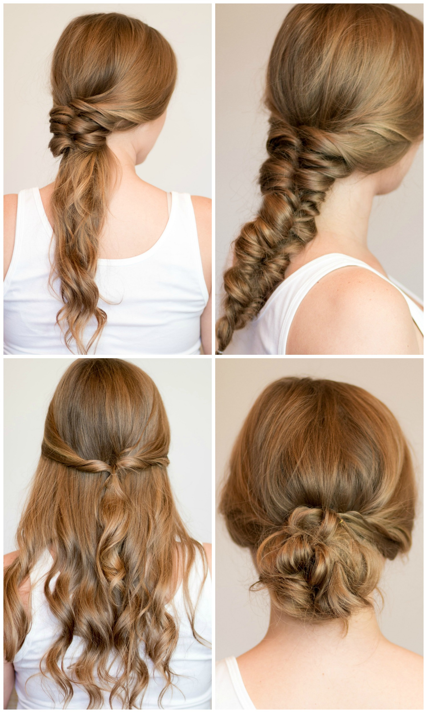 Easy Frisuren  Easy Heatless Hairstyles for Long Hair