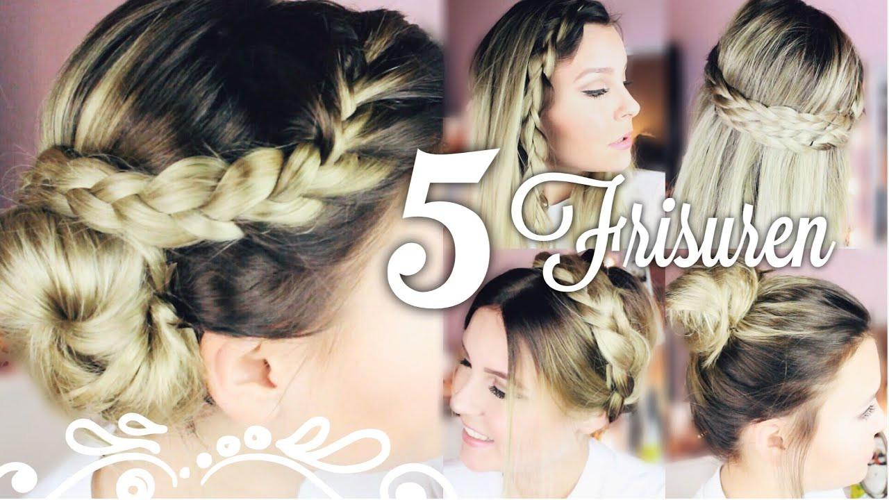"Easy Frisuren  5 SCHÖNE & EASY "" 5 Minuten "" FRISUREN ♡"