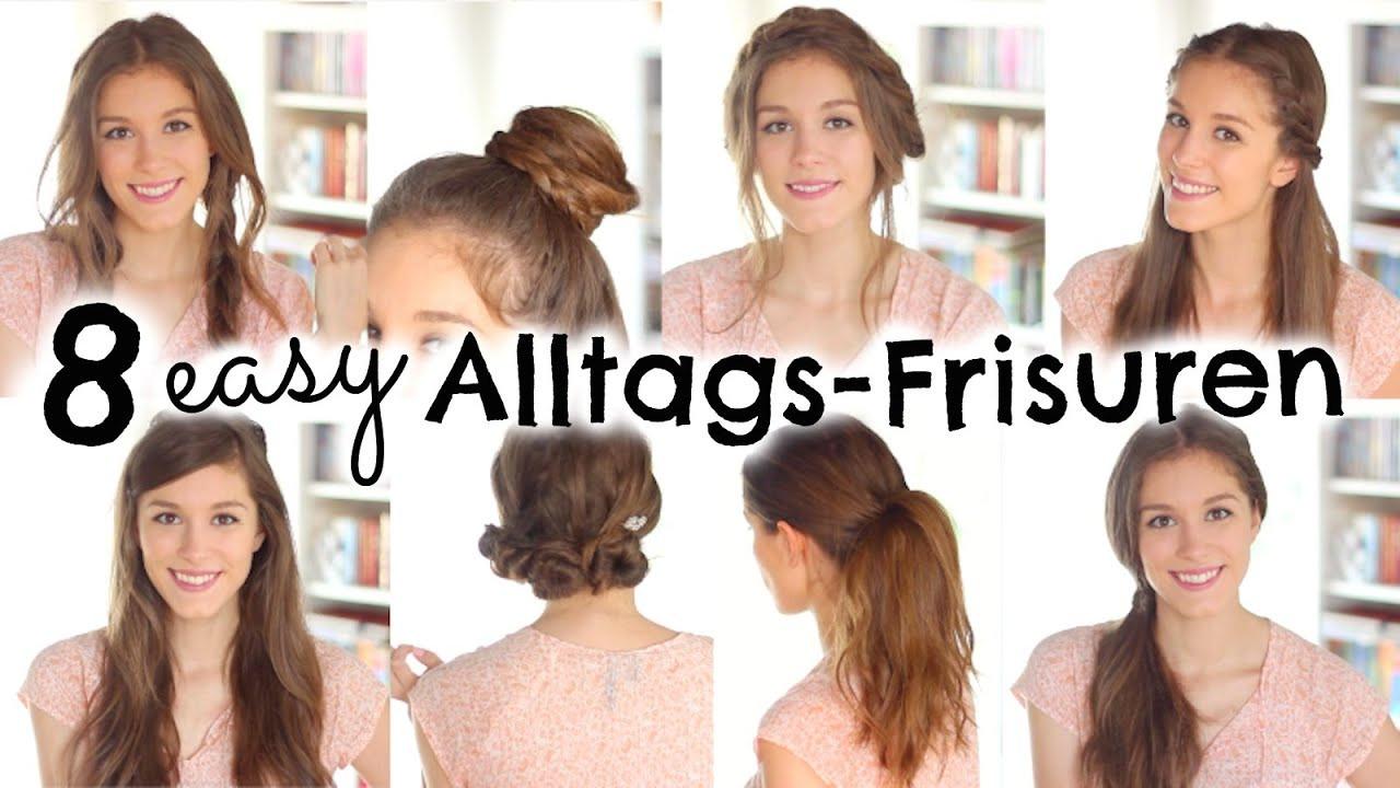 Easy Frisuren  8 easy FRISUREN für den Alltag Schule
