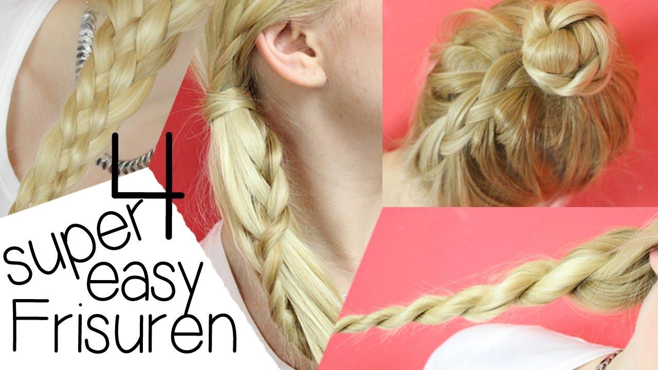 Easy Frisuren  4 SUPER EASY FRISUREN ♥