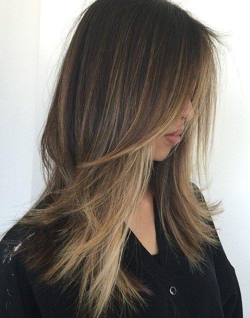 Einfache Frisuren Für Langes Haar  Einfache Frisuren für langes gerades Haar 2018 Trend