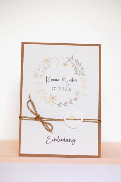 Einladung Hochzeit Diy  Einladungskarten Vintage Wedding Einladung Hochzeit