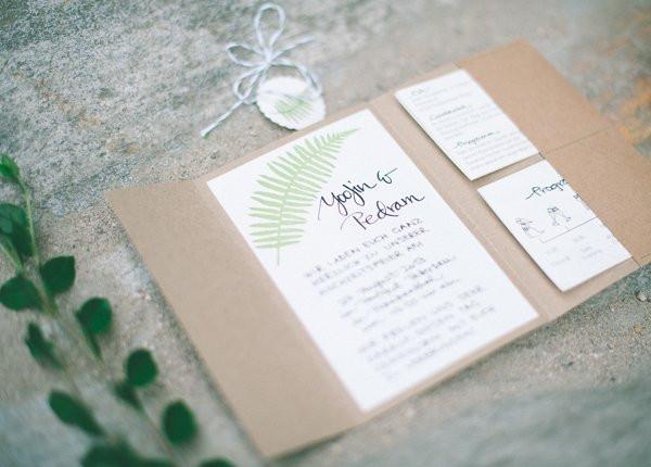 Einladung Hochzeit Diy  Abendkleider Hochzeitspapeterie gestempelt und gezeichnet
