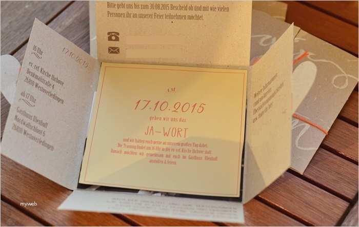 Einladung Hochzeit Diy  Einladung Diy Einzigartig Bastelanleitung Einladungskarten
