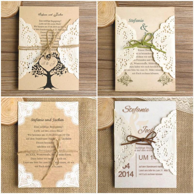 Einladung Hochzeit Diy  Holz Einladung Hochzeit