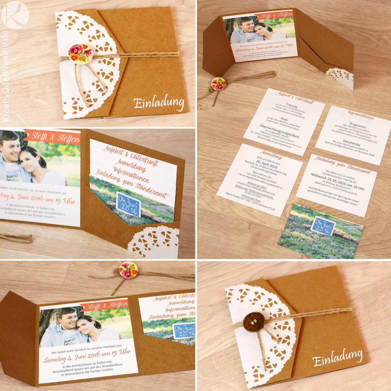Einladung Hochzeit Diy  Diy Einladungskarten Hochzeit Mittelalter